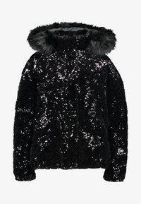 River Island - SEQUIN PUFFER - Classic coat - black - 5
