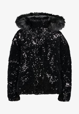 SEQUIN PUFFER - Classic coat - black