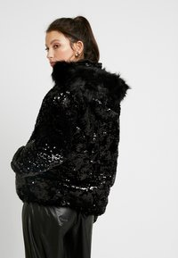 River Island - SEQUIN PUFFER - Classic coat - black - 2