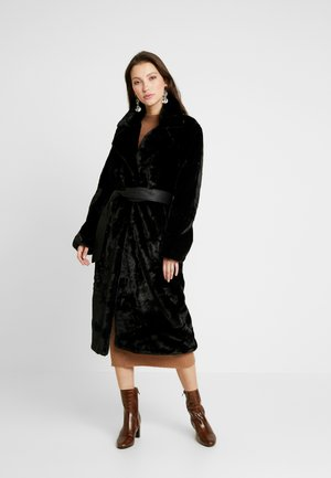 BELTED ROBE - Cappotto invernale - black