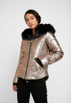 METALLIC PANELLED TATIANA - Winter jacket - copper