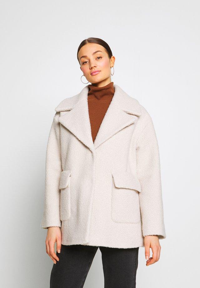 BOUCLE SWING COAT - Short coat - ivory