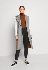 River Island - ADRIANA COAT COLOURBLOCK - Mantel - grey - 1