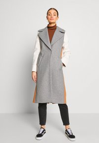 River Island - ADRIANA COAT COLOURBLOCK - Mantel - grey - 0