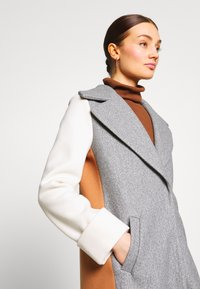 River Island - ADRIANA COAT COLOURBLOCK - Mantel - grey - 4