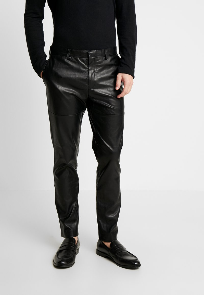 River Island - Leather trousers - black