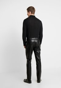 River Island - Leather trousers - black - 2