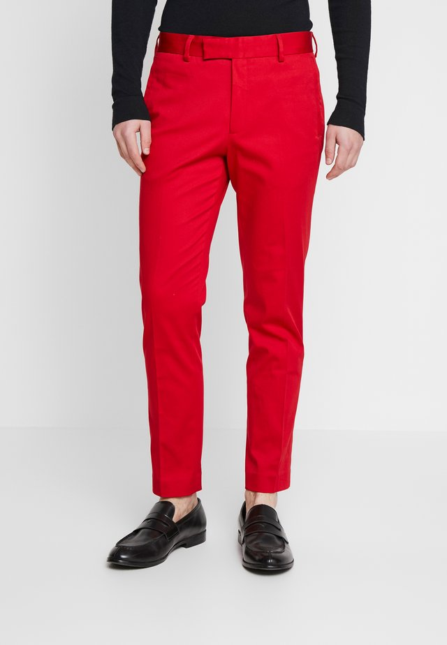 FYNE AND DANDY - Suit trousers - red