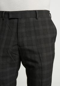 River Island - SKINNY CHECK  - Suit trousers - grey - 4