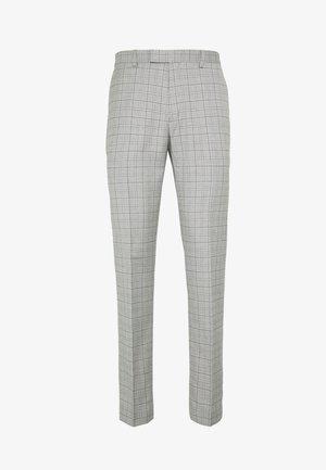 TARGARYEN MINI CHECK SKINNY  - Suit trousers - grey