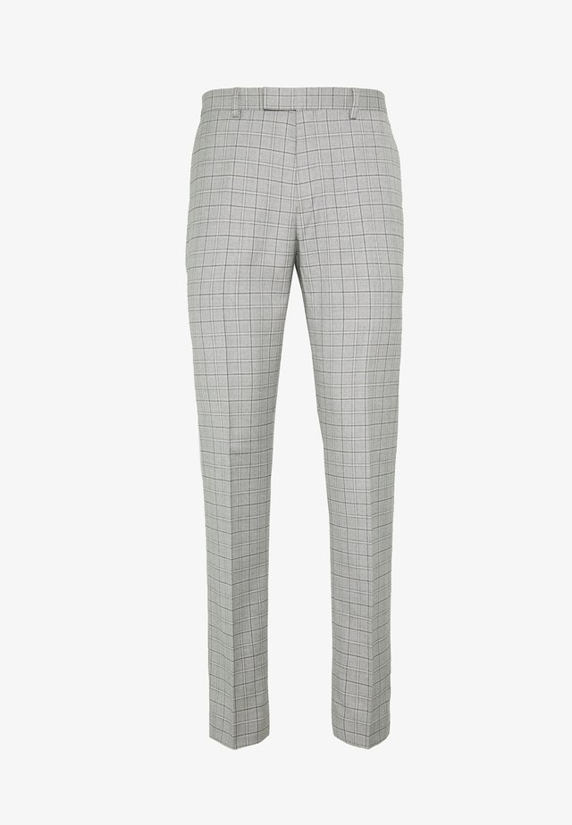 TARGARYEN MINI CHECK SKINNY  - Suit trousers - grey