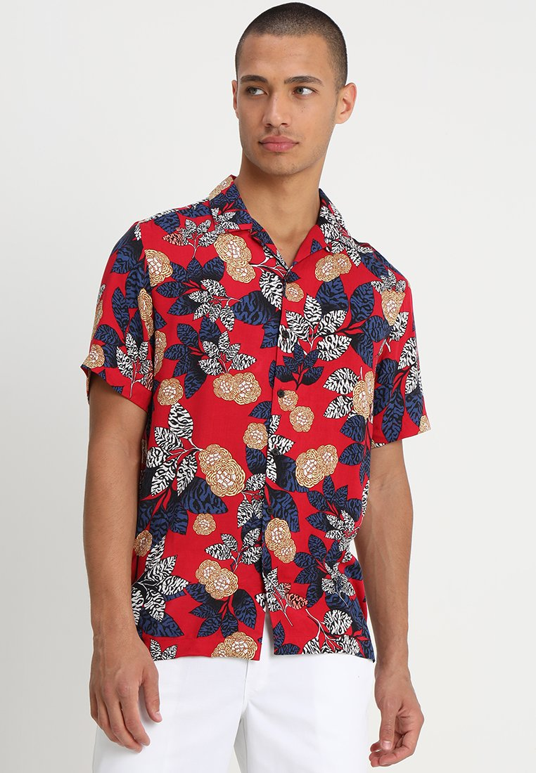 River Island - FLORAL TAPE - Chemise - red