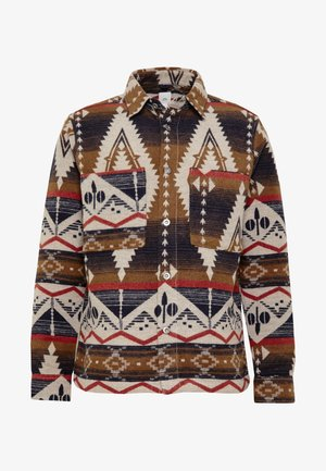 NAVAJO BUTTON OVERSHIRT - Shirt - khaki