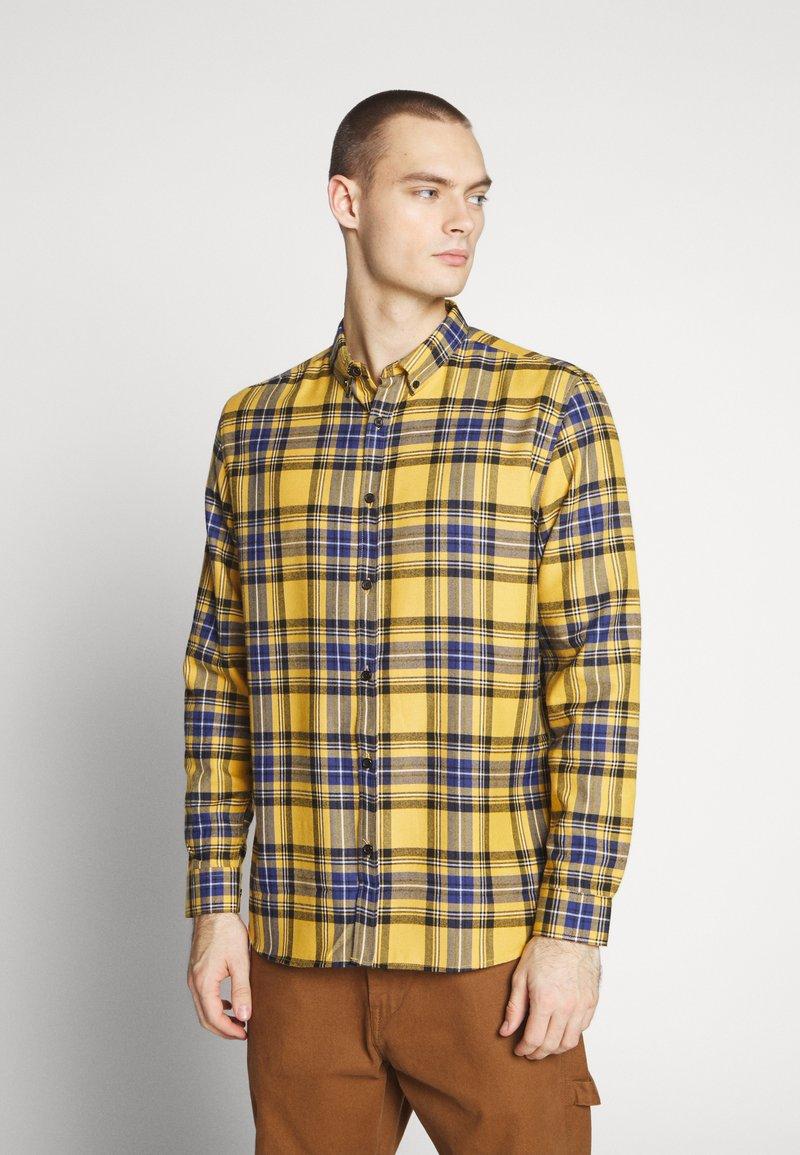 River Island - CHECK - Shirt - bright yellow
