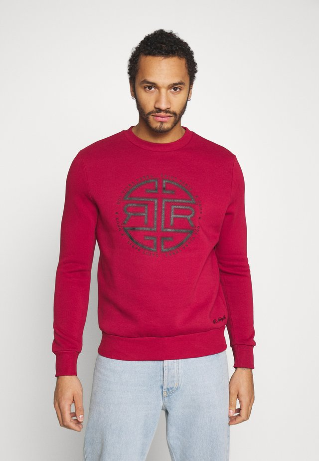 FRONT PRINT CREW - Sudadera - red
