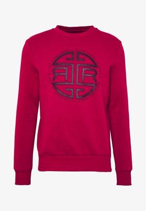 FRONT PRINT CREW - Sweatshirt - red