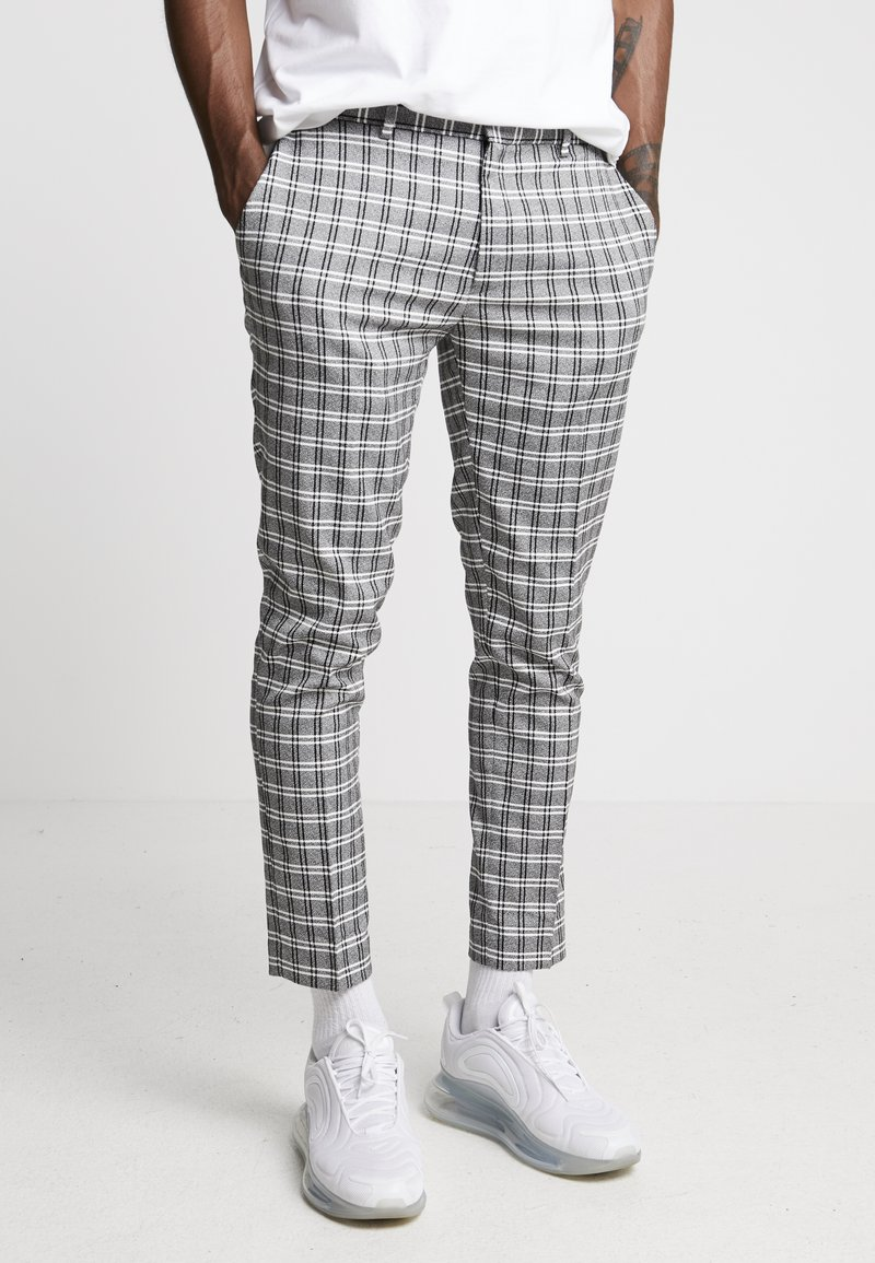 River Island - Trousers - black/grey