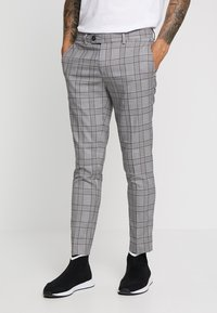 River Island - GARNET CHECK POW ULTRA - Broek - grey - 0