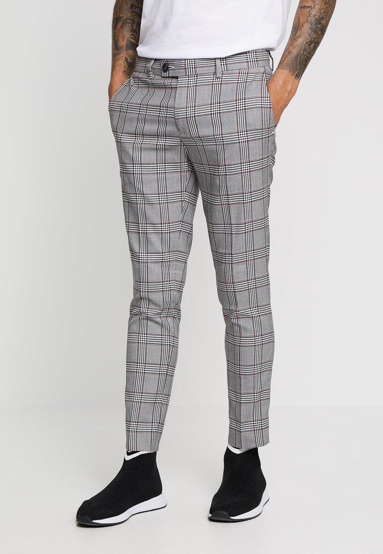 River Island - GARNET CHECK POW ULTRA - Broek - grey
