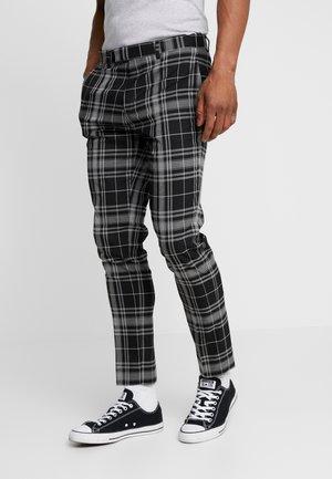 MONO ULTRA TARTAN - Pantalon classique - black