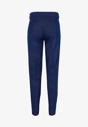 BOYS NAVY PIN DOT PRINT SUIT TROUSERS - Pantalon - blue