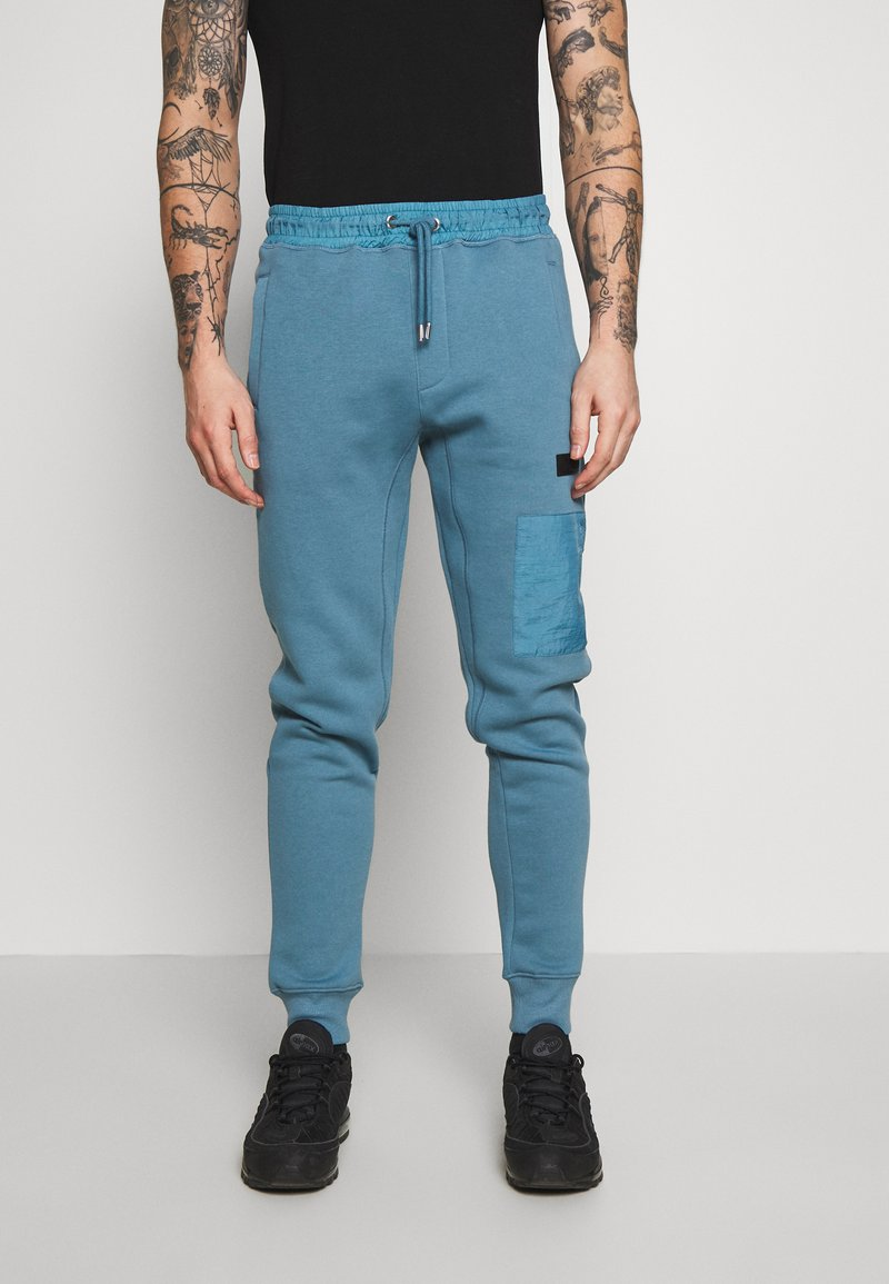River Island - Tracksuit bottoms - slate blue/grey
