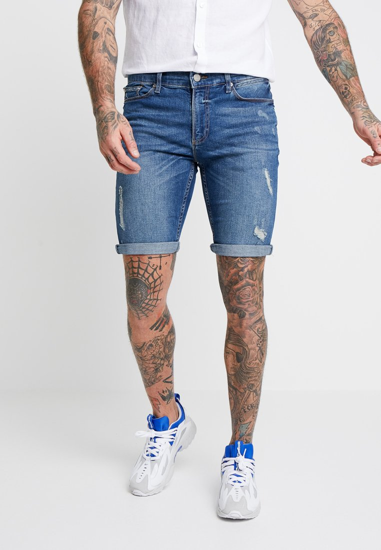 River Island - Jeans Shorts - mid blue