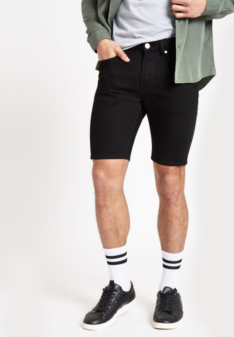 River Island - Denim shorts - black