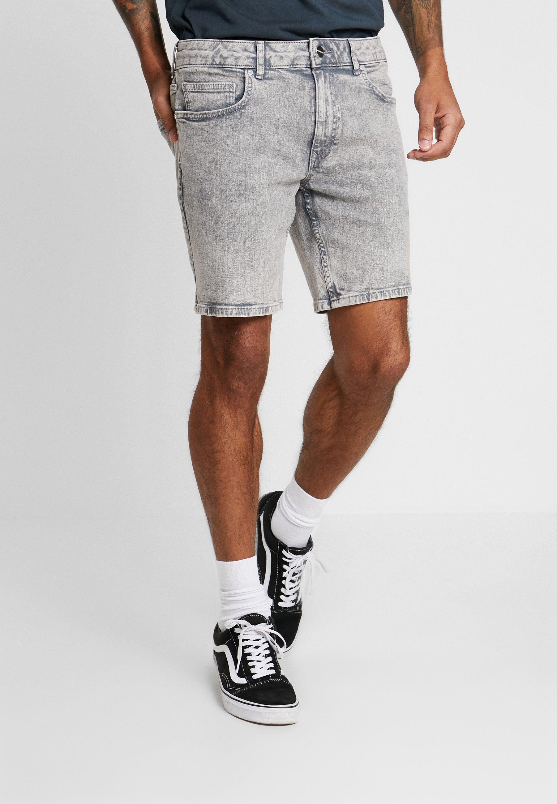 River Island Szorty jeansowe - grey