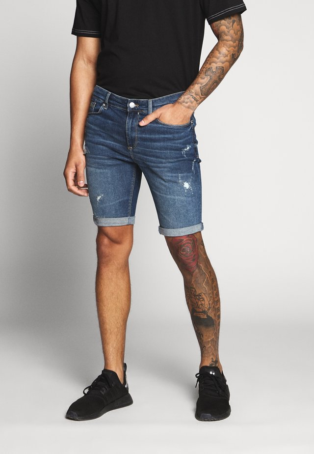 Jeansshorts - mid blue