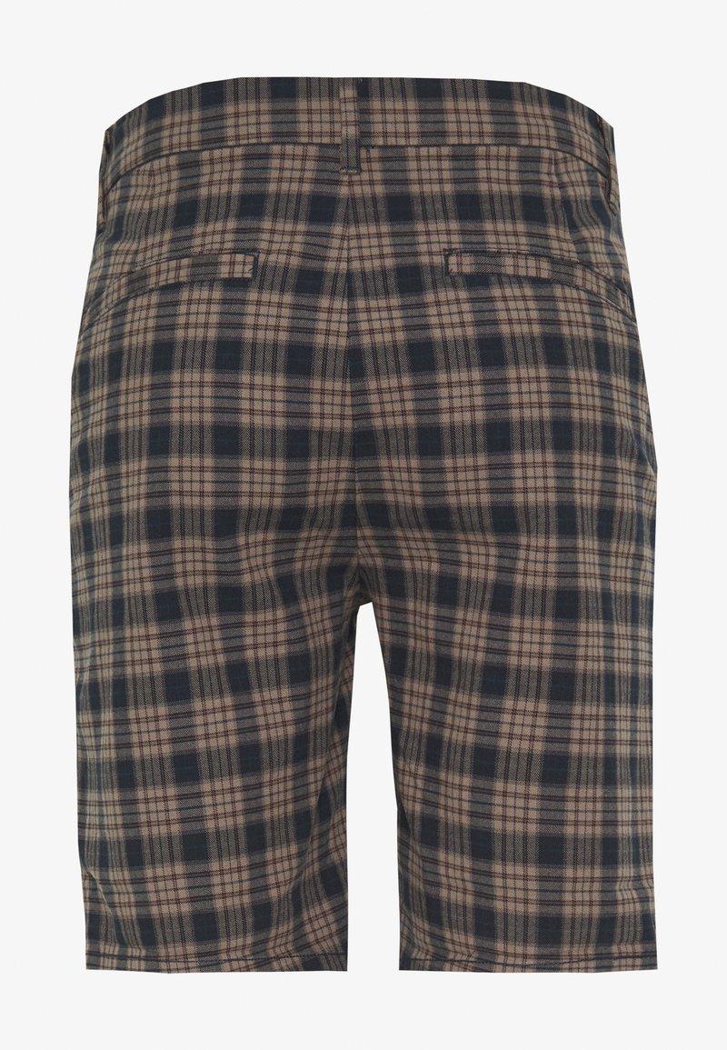 River Island Shorts - brown/navy