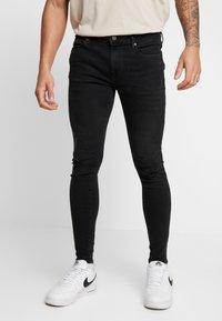 River Island - Jeans Skinny Fit - washed black - 0