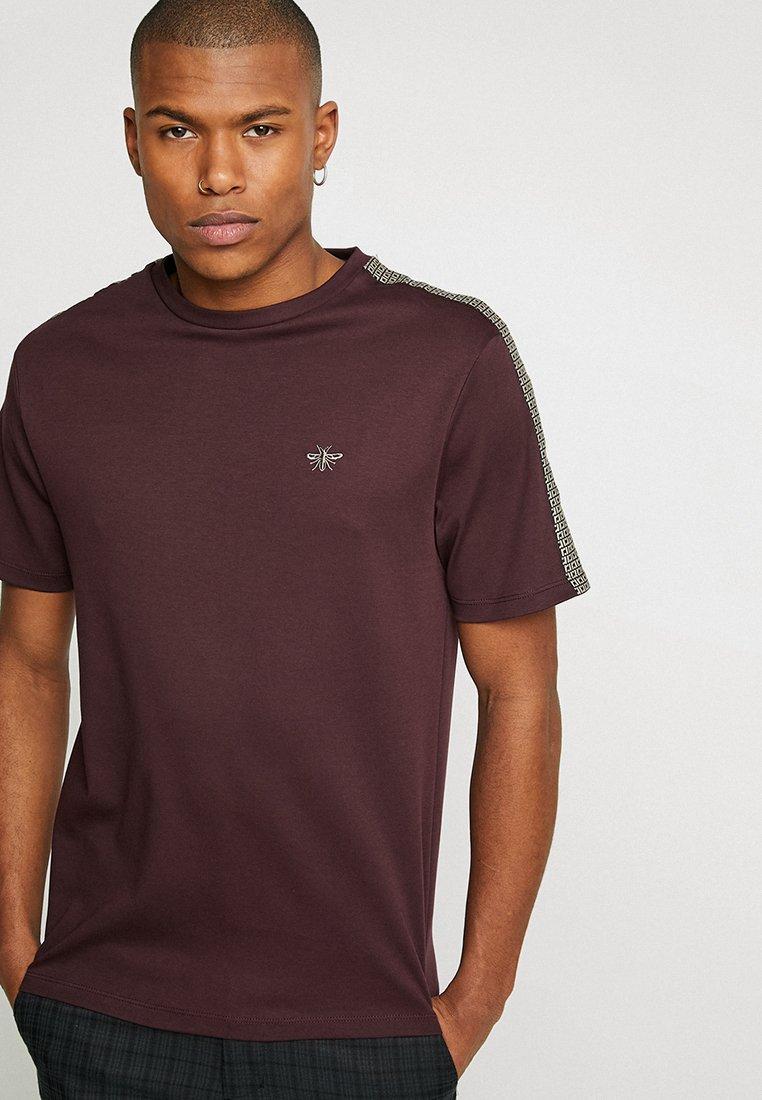 River Island - Print T-shirt - berry