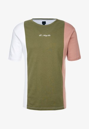 SIDE BLOCKING TEE - T-shirt con stampa - green