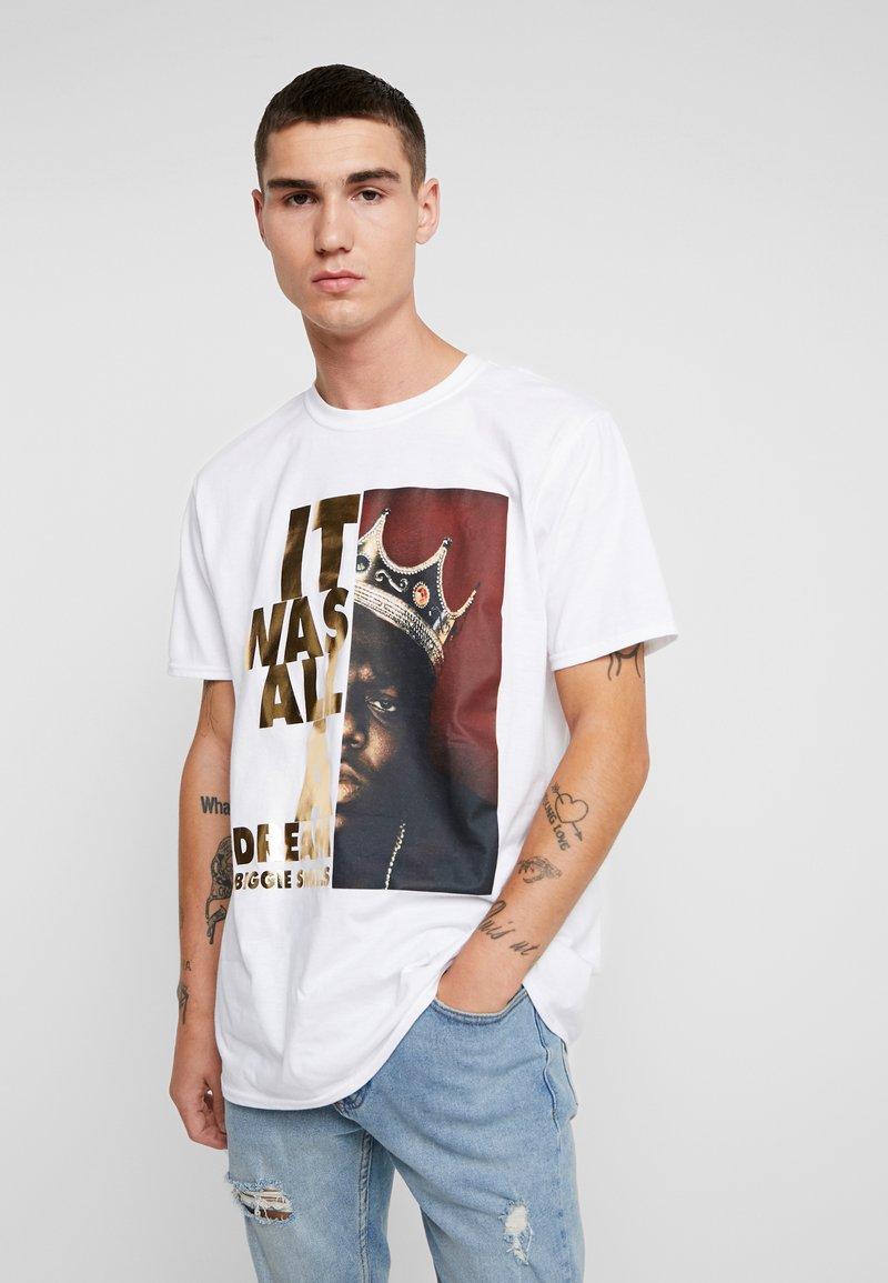 River Island - BIGGIE TEE - Camiseta estampada - white