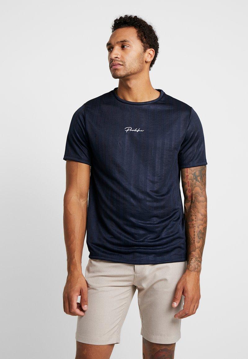 River Island - PROLIFIC FOOTBALL TEE - Camiseta básica - navy