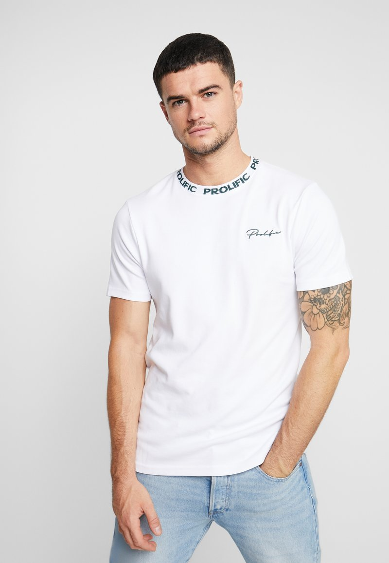 River Island - T-shirts med print - white