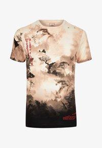 River Island - T-shirt med print - stone - 4