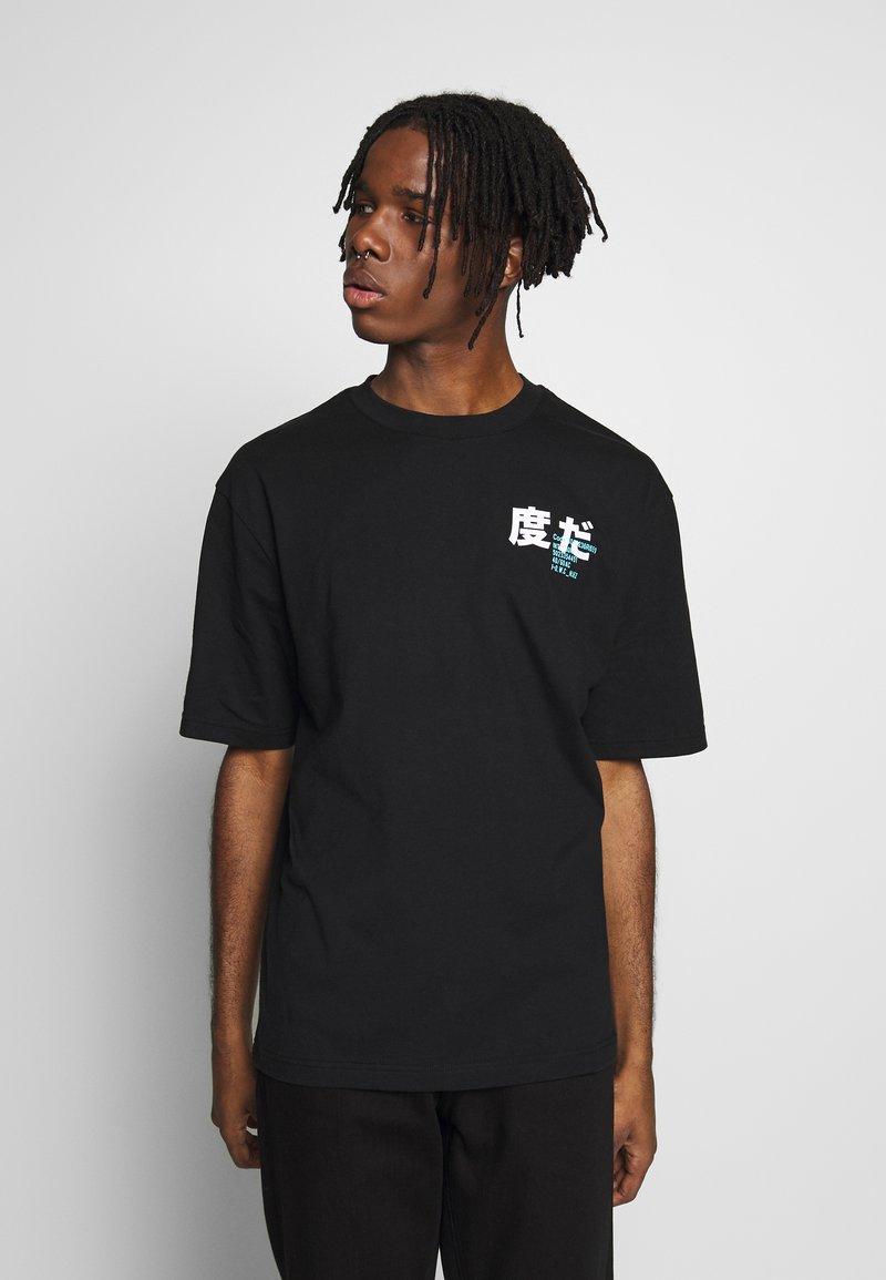 River Island - BLACK BOXY TEE - T-shirt con stampa - black