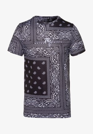 AZTEC DESIGN STRIPE FLORAL - T-shirt con stampa - black