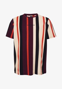 River Island - STRIPE TEE - Print T-shirt - burg/berry - 3