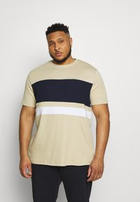 River Island - T-shirt print - brown light - 0