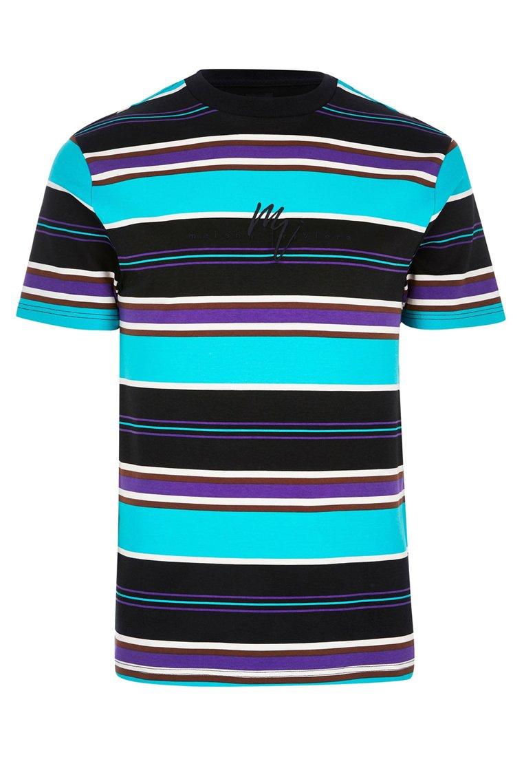 River Island T-shirt Imprimé - Blue
