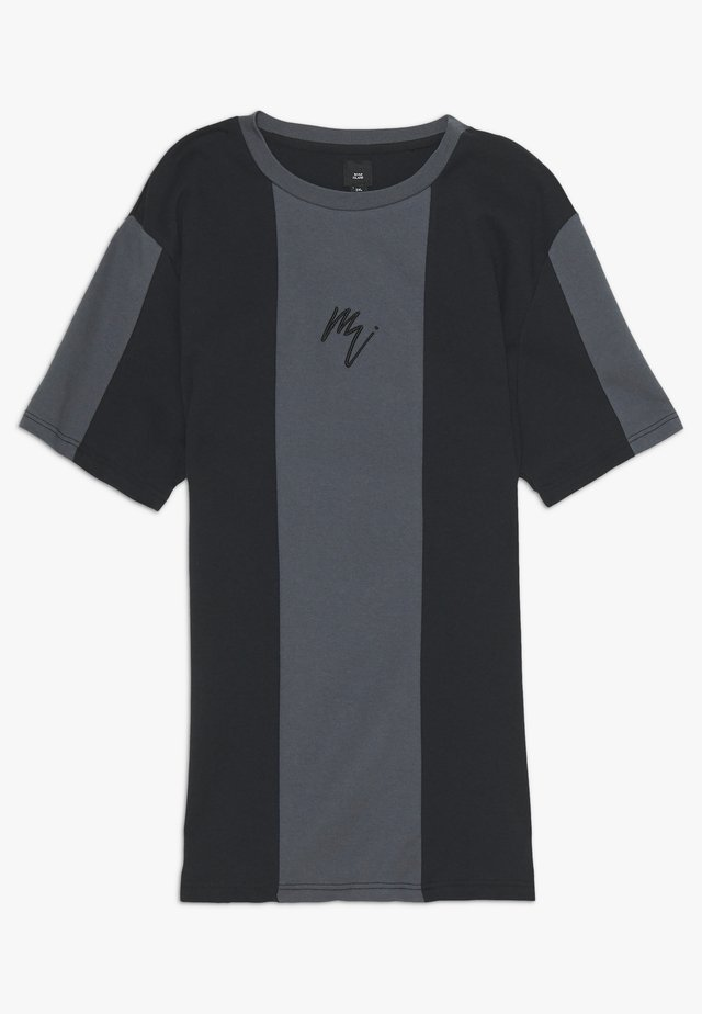 Print T-shirt - black/grey