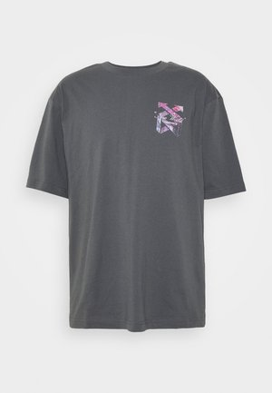 BOXY NEW WORLD - T-shirt print - grey/black