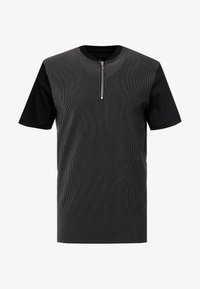 River Island - PINSTRIPE BASEBALL - T-shirt print - black - 4
