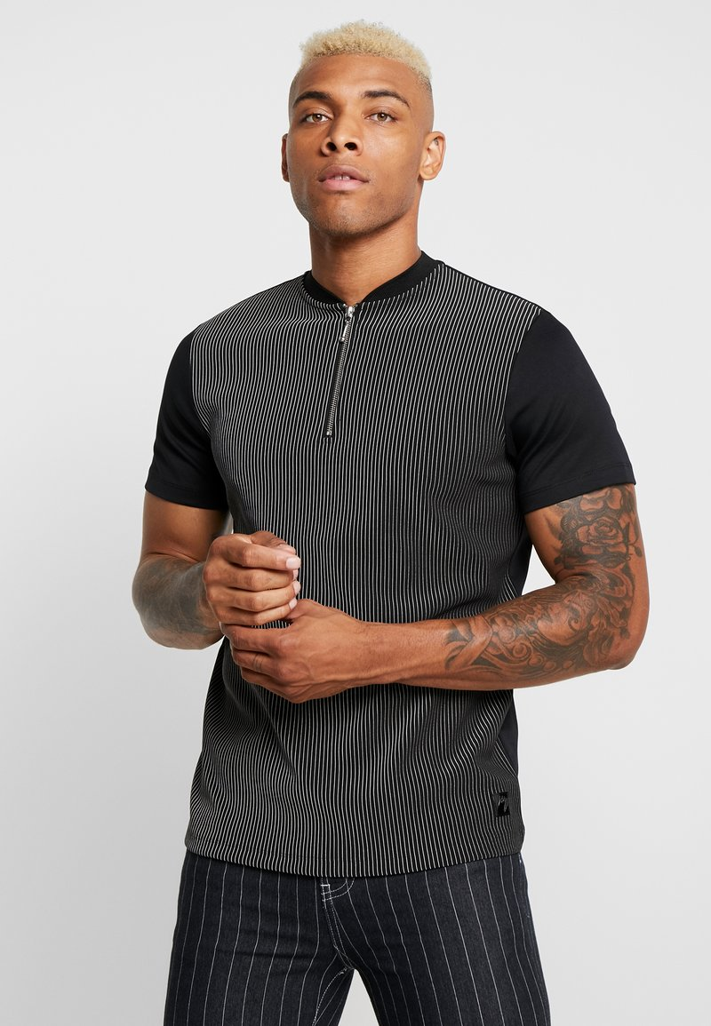 River Island - PINSTRIPE BASEBALL - T-shirt print - black