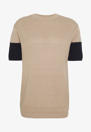 TEXTURE TEE - T-shirt print - camel