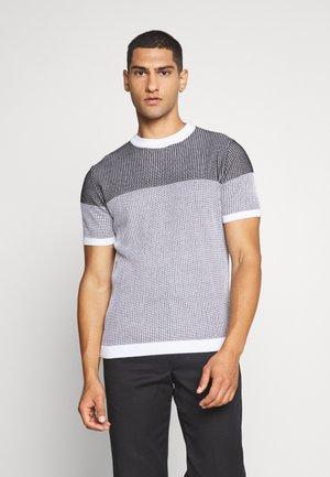 MIXED TEE - T-shirt z nadrukiem - black