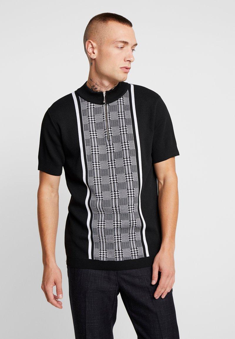 River Island - T-shirt z nadrukiem - black